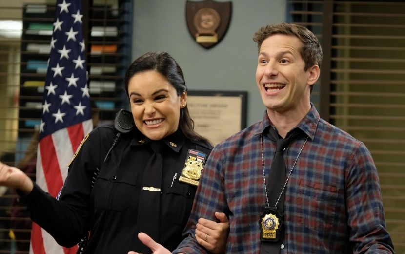 """Elenco de""""Brooklyn Nine-Nine"""" mostra bastidores das gravações da8ª temporada"""