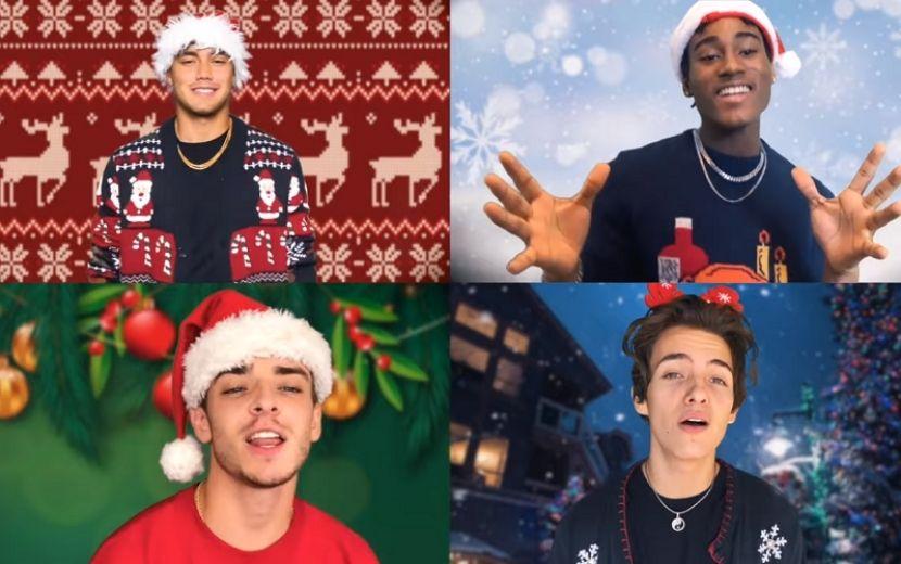 """Lamar, Bailey, Noah e Josh, do Now United, lançam performance de """"Under The Mistletoe"""""""