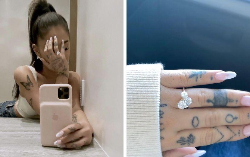 Especialistas avaliaram o anel de noivado de Ariana Grande e você não vai acreditar no valor