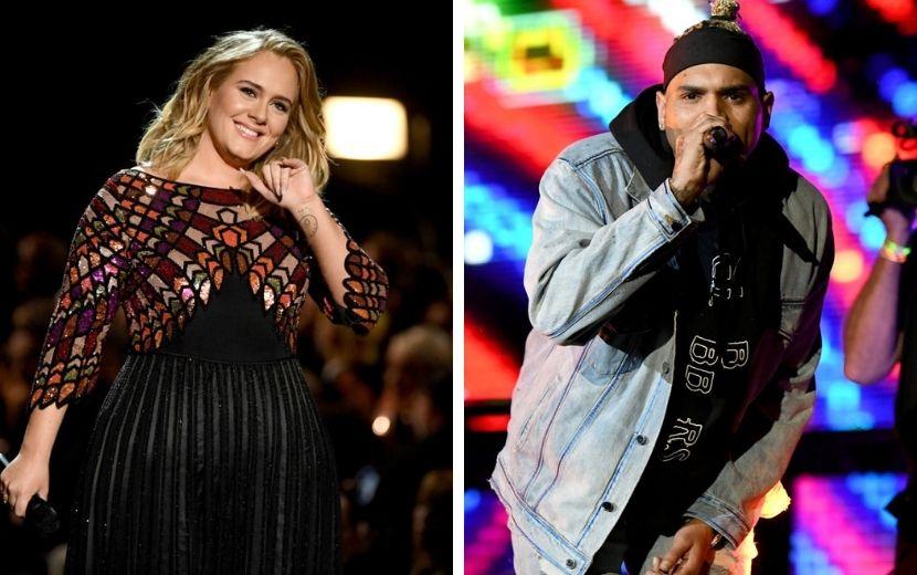 Adele processa jornal por afirmar que ela estaria namorando Chris Brown - entenda