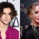 """Flagra de beijo entre Timothée Chalamet e Jennifer Lawrence nas gravações de """"Don´t Look Up"""" viraliza"""