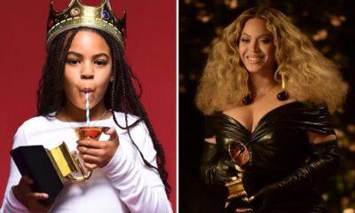 Blue Ivy aparece segurando seu primeiro Grammy em fotos divulgadas por Beyoncé