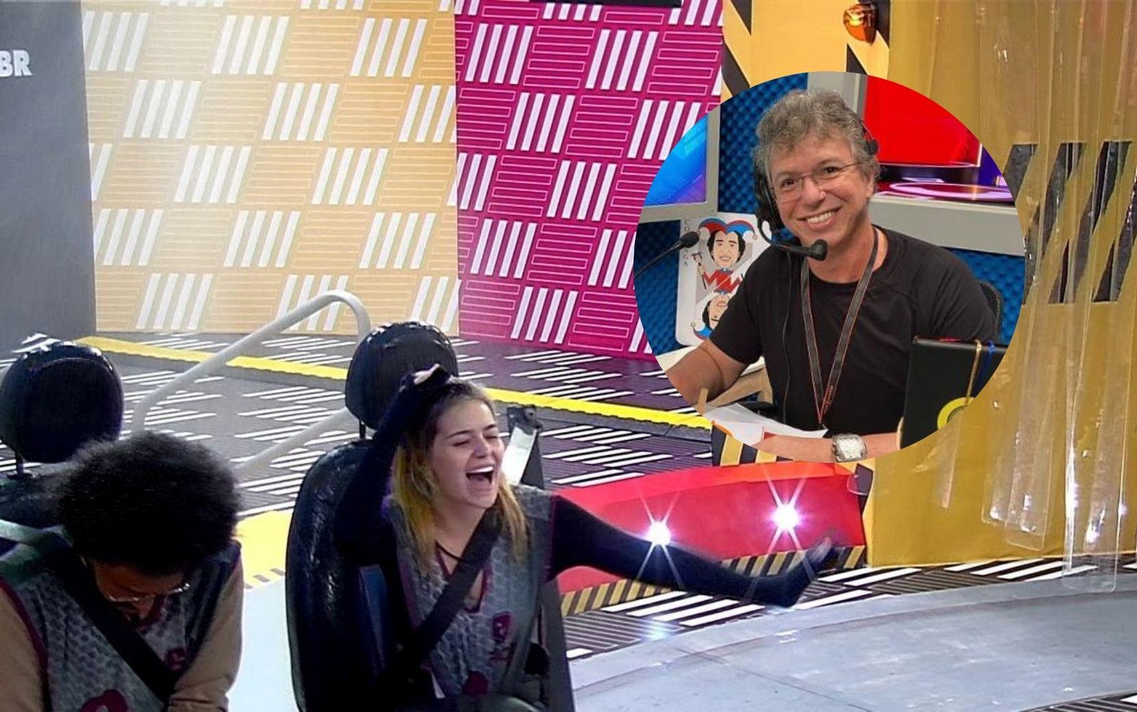 """Boninho entra na brincadeira: """"Não tem Prova do Líder, a gente queria dar um banho na Viih Tube"""""""