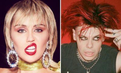 Miley Cyrus é vista em clima romântico com Yungblud na festa para Hannah Montana, fonte diz que é amizade