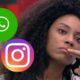 """WhatsApp e Instagram apresentam instabilidade e Lumena brinca: """"Quem autorizou?"""""""