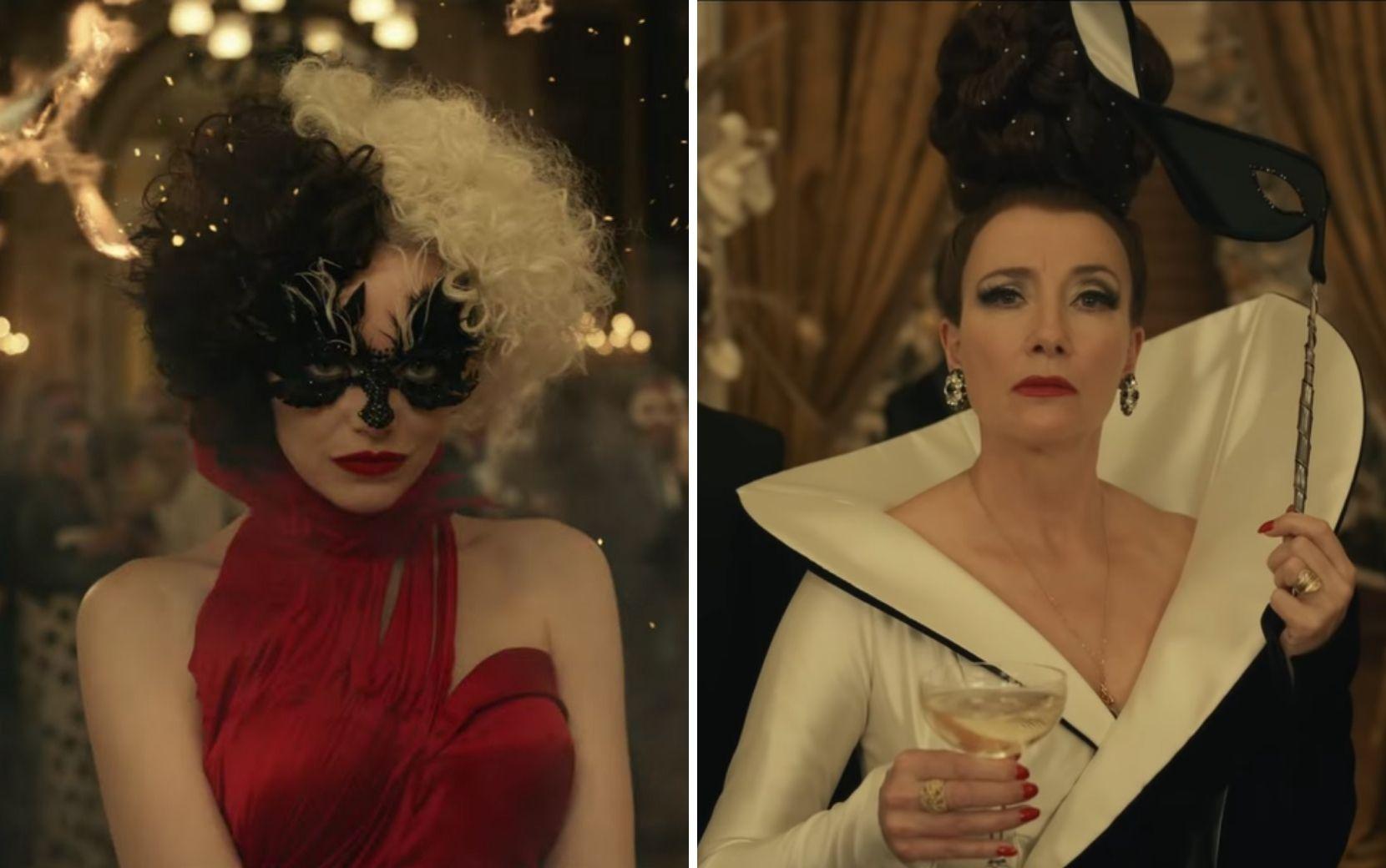 """""""Cruella"""" ganha novo trailer com conflitos entre a vilã e a Baronesa Von Hellman"""