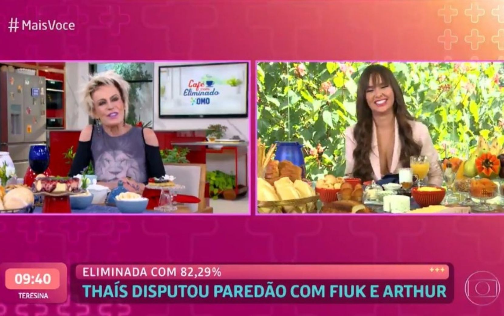 Mais Você: Ana Maria Braga insiste em rivalidade de Thaís com Juliette durante café focado em Fiuk