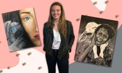 Exclusiva: Belu, artista de 16 anos, irá expor pela 1ª vez suas obras no Carrousel du Louvre, em Paris