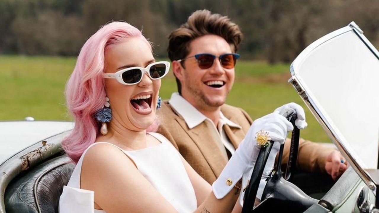"""Anne-Marie e Niall Horan são ladrões fugindo com estilo em """"Our Song"""""""