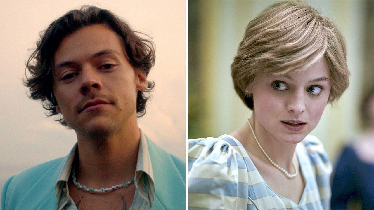 """Harry Styles e Emma Corrin são vistos aos beijos no set de gravações de """"My Policeman"""""""