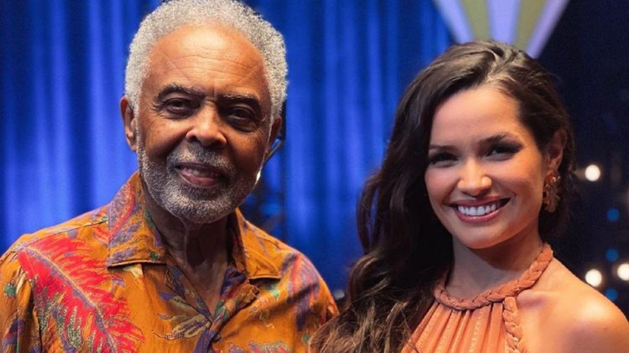Juliette e Gilberto Gil se emocionam durante live junina