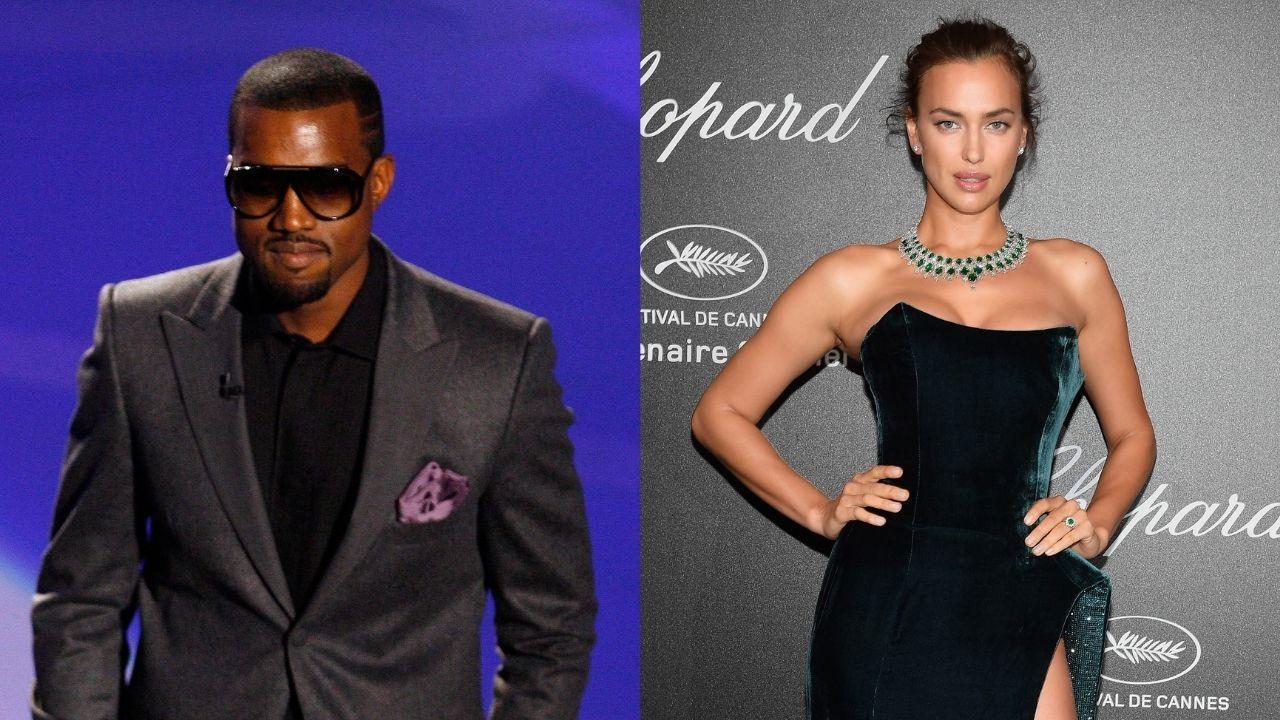 Kanye West é fotografado em clima romântico com Irina Shayk
