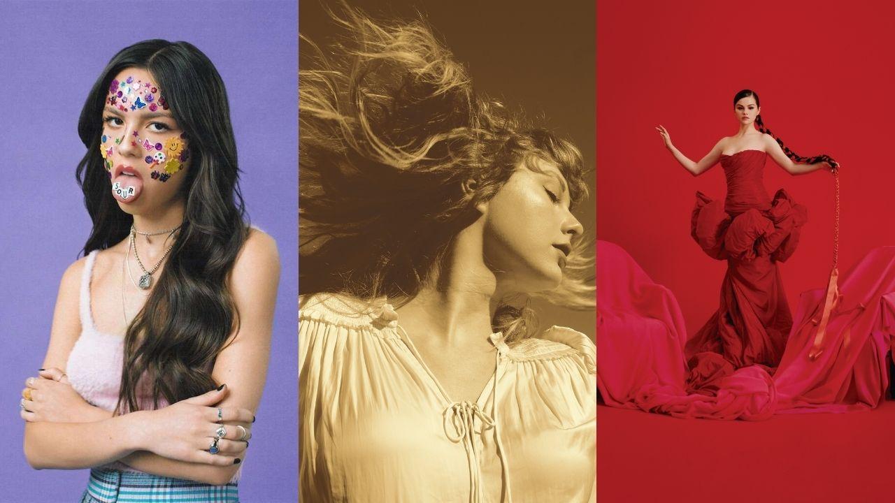 Olivia Rodrigo, Taylor Swift e Selena Gomez estão em lista dos 50 melhores álbuns do ano até agora