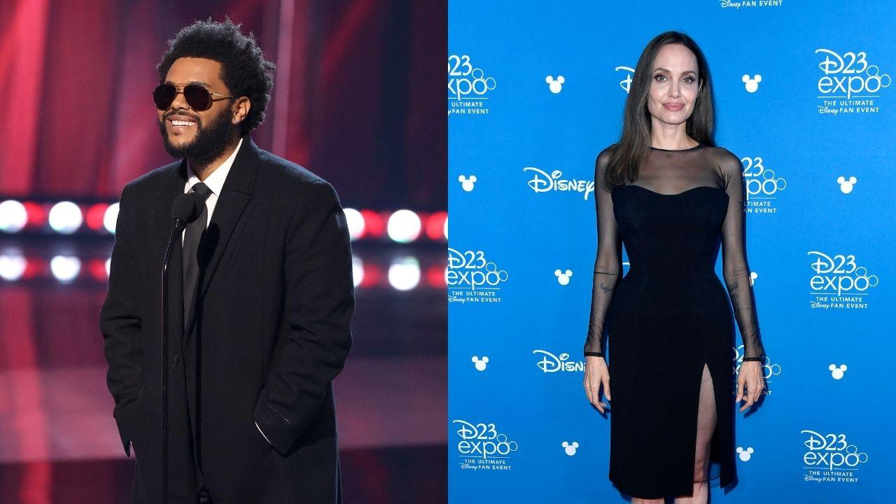 Date ou negócios Angelina Jolie e The Weeknd são vistos em jantar