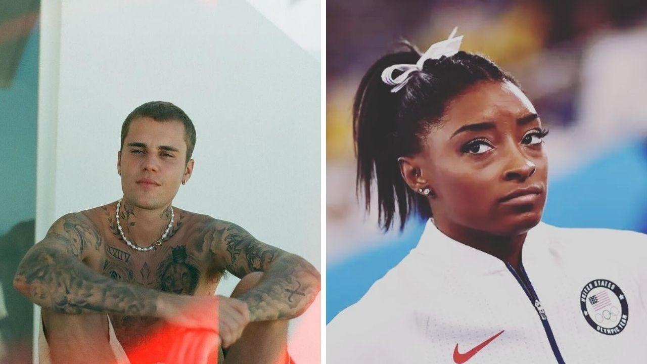 Justin Bieber manda mensagem fofa à Simone Biles, que desistiu das Olimpíadas