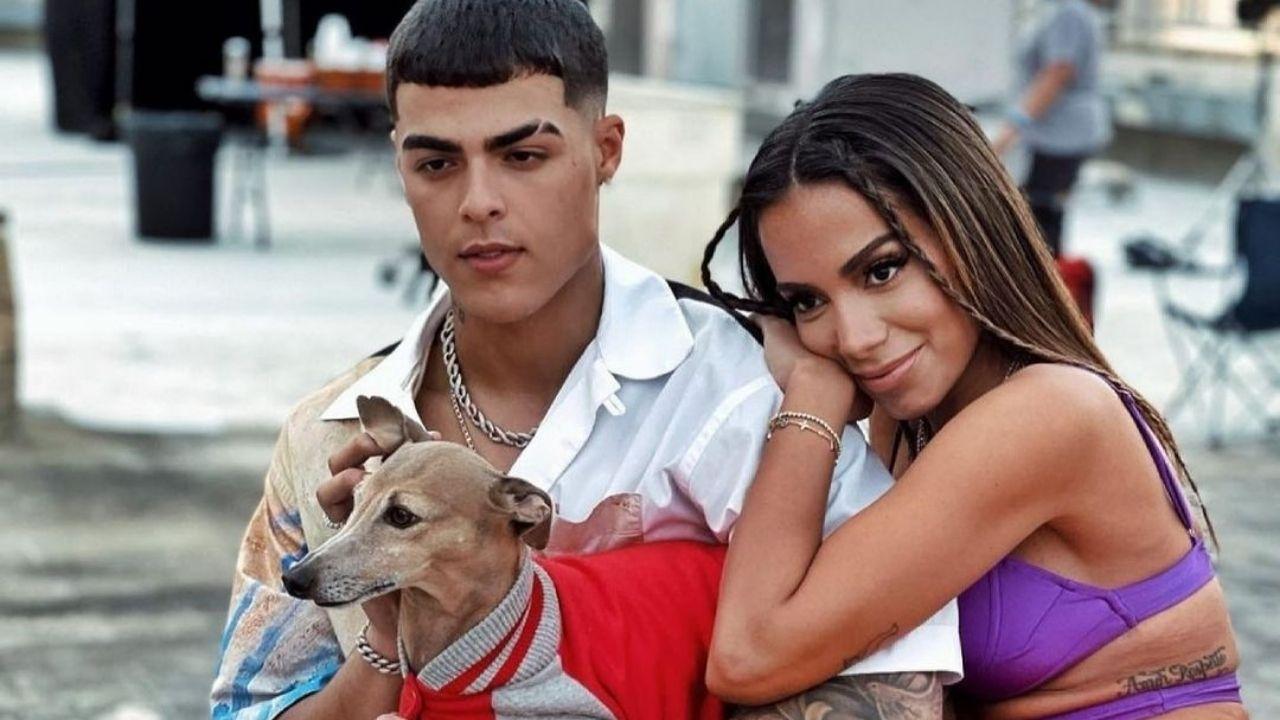 """""""Todo o Nada"""": Lunay divulga clipe com Anitta e web fica louca com a ausência do cão Plínio"""