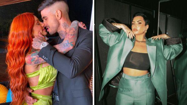 """Casal brasileiro de """"Brincando com Fogo"""" flerta com Demi Lovato"""