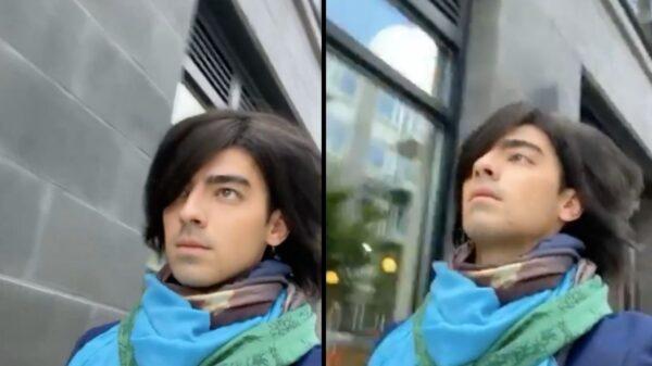 """Joe Jonas posta vídeo com franja ao som de """"S.O.S."""""""