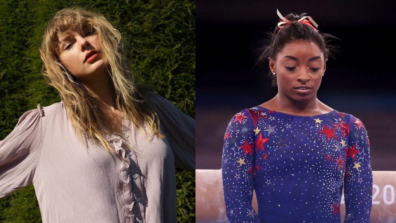 """Taylor Swift enaltece Simone Biles: """"Lição de inteligência emocional e resiliência"""""""