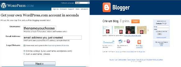 Wordpress e Blogger