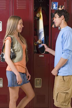 casal na escola
