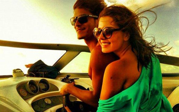 Giovanna Lancellotti e Arthur Aguiar fazem viagem romântica