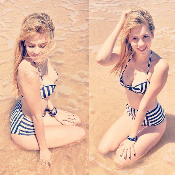 Sophia Abrahão posta foto só de biquini